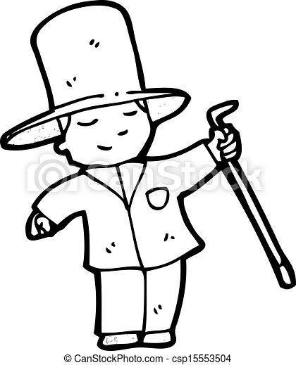 menino, caricatura, ricos - csp15553504
