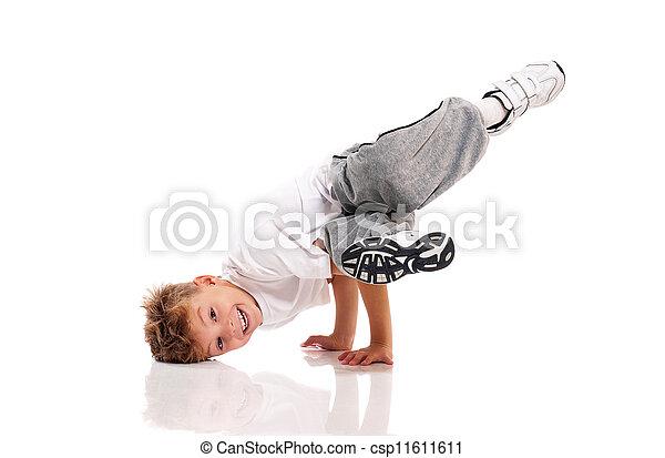 menino, dançar - csp11611611