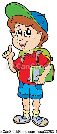 menino, escola, aconselhar - csp3328319