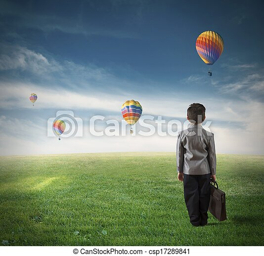 menino, futuro, jovem - csp17289841