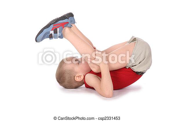 menino, ioga - csp2331453