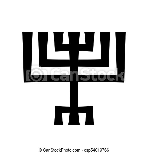 Menorah (ancient Hebrew sacred seven-candleholder) - csp54019766