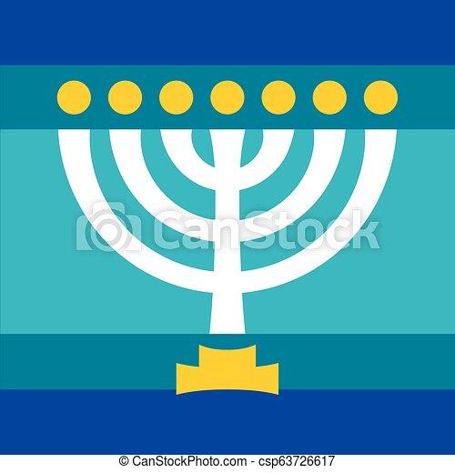 Menorah (ancient Hebrew sacred seven-candleholder) - csp63726617