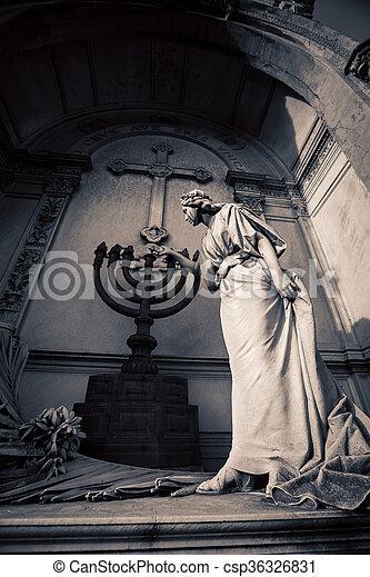 menorah, cimetière, recoleta - csp36326831