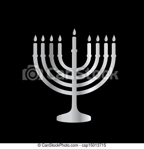 Judaísmo menorah - csp15013715
