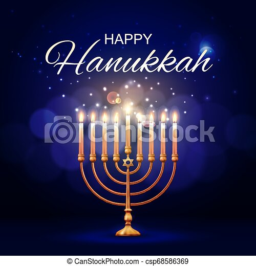 menorah, juif, star., hannukah, david, religion - csp68586369