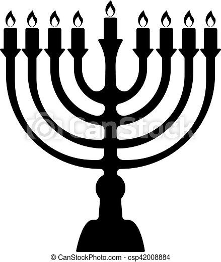 menorah symbol of judaism illustration isolated on white vector rh canstockphoto com menorah clip art free menorah clipart black and white