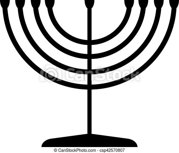 Menorah Symbol Of Judaism Illustration Isolated On White Vector