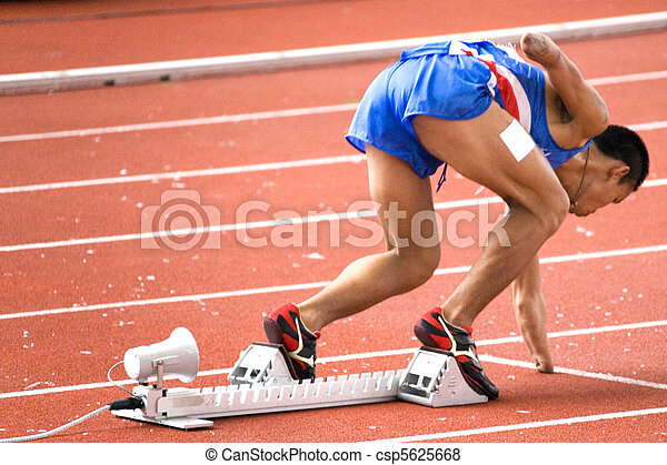 Mens 200 Meters Race for Disabled  - csp5625668