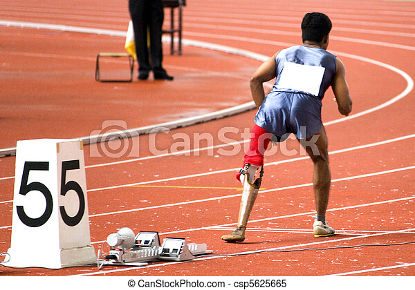 Mens 200 Meters Race for Disabled  - csp5625665