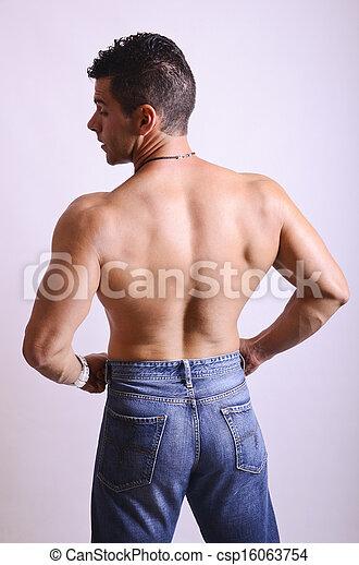Mens back - csp16063754