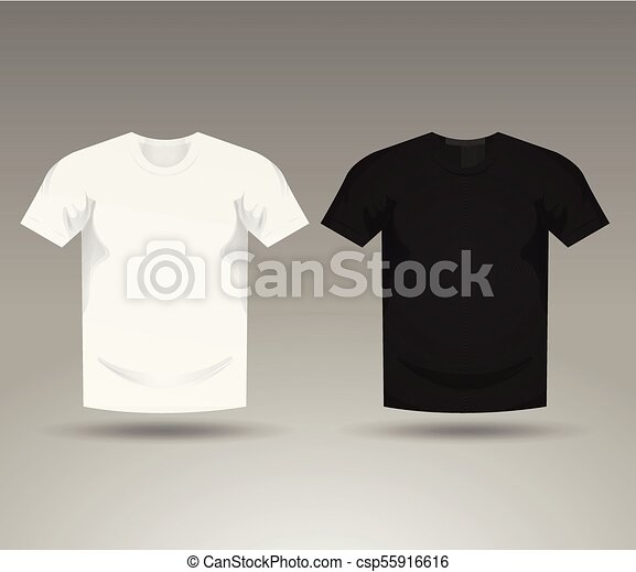 Mens Black And White Blank T Shirt Templates