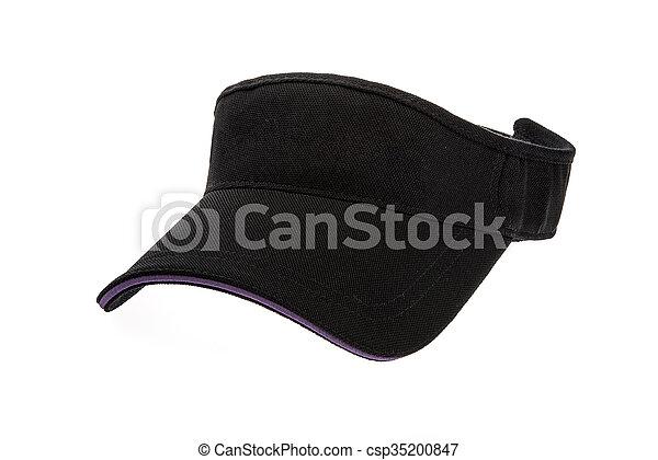 Men s black golf visors. Adult black golf visor on white background. 06eb1336888