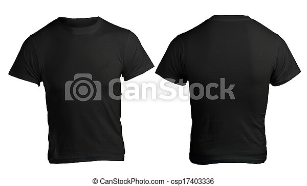 Men's blank black shirt template. Men's blank black shirt ...