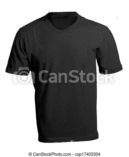 Men\'s blank black v-neck shirt template. Men\'s blank black v-neck ...