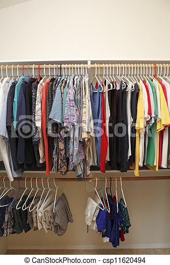 Menu0027s Clothes In A Closet   Csp11620494