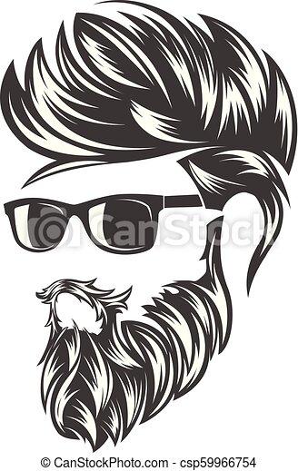 Vector Set Black Hairstyles Icons Hair Stock-Vektorgrafik (Lizenzfrei)  284648252