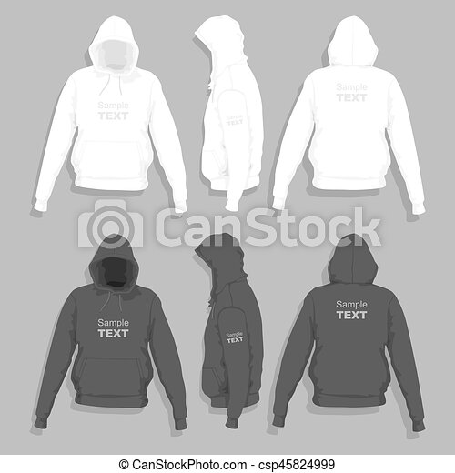 how to draw a hoodie side view