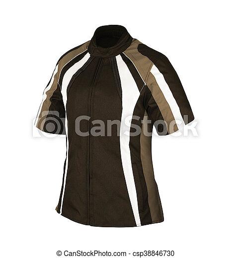 Men's jacket isolated on white - csp38846730