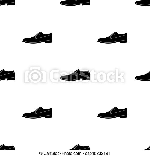 Mens Leather Shiny Shoes With Laces Shoes To Wear With A Suitdifferent Shoes Single Icon In Black Pattern Vector Symbol Stock Illustration