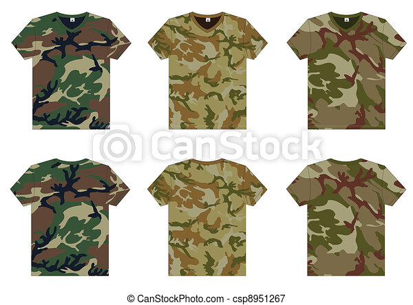 Men's Military T-Shirts v-neck - csp8951267