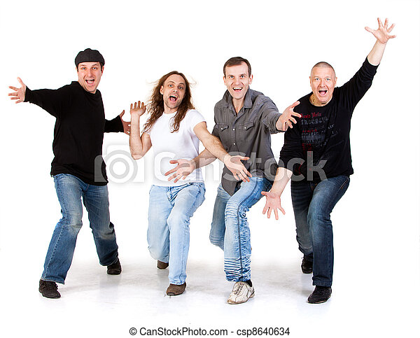 mens on a white background - csp8640634