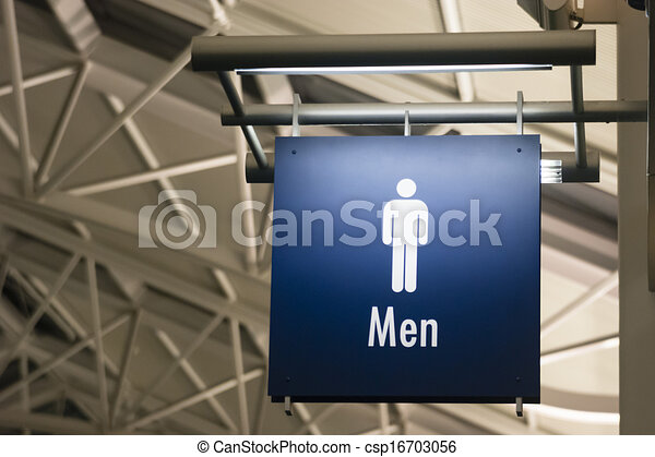 Men's Restroom Male Lavatory Sign Marker Public Building  - csp16703056