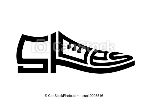 mens shoes the concept of shoes and letters clipart search rh canstockphoto com shoe print vector logo dc shoes vector logo free