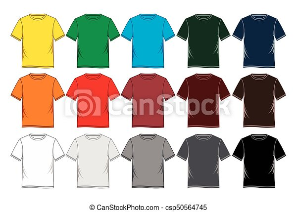 3917b066280 Men s short sleeve round neck t-shirt templates