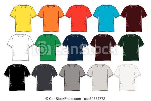 4b97285e7e5 Men s short sleeve round neck t-shirt templates. Men s short sleeve ...