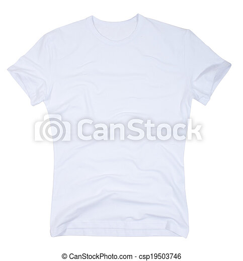 Men's t-shirt isolated on a white - csp19503746
