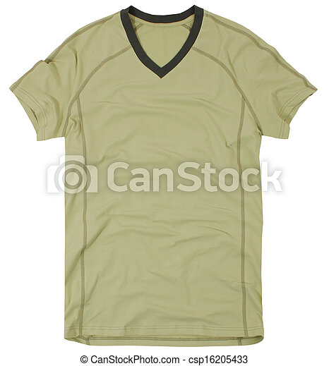Men's t-shirt isolated on a white - csp16205433