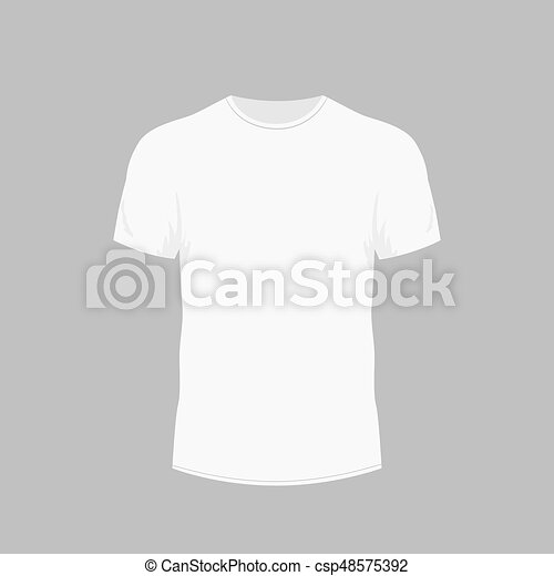 56d1a4d00 Men's white t-shirt with short sleeve in front views - csp48575392