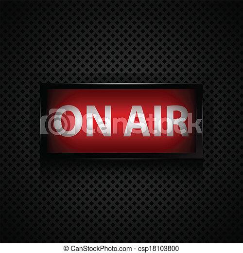 mensagem, ar, estúdio, sinal - csp18103800