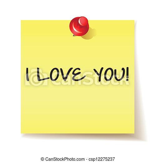 Mensaje que te amo - csp12275237