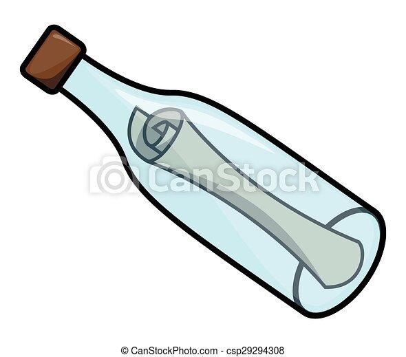 mensaje, botella - csp29294308