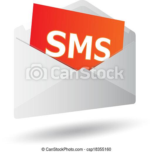 Icon mensaje 3D - csp18355160