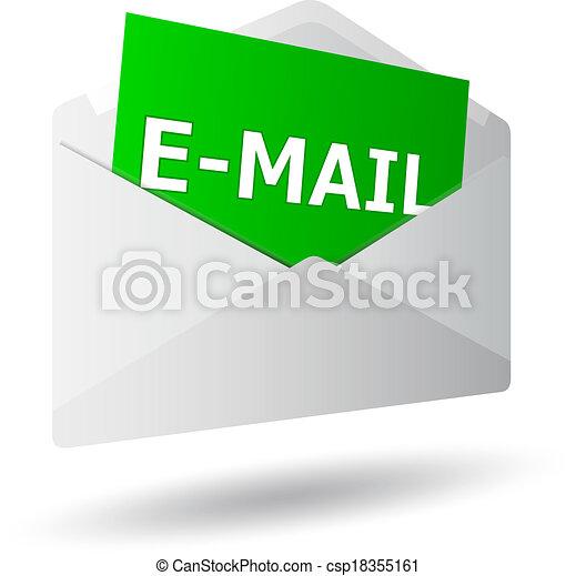 Icon mensaje 3D - csp18355161