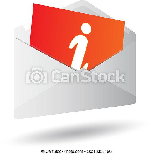 Icon mensaje 3D - csp18355196