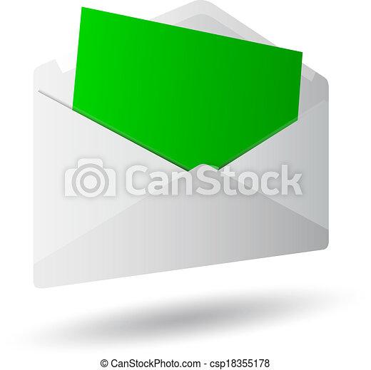 Icon mensaje 3D - csp18355178