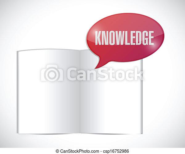 mensaje, libro, diseño, conocimiento, ilustración - csp16752986