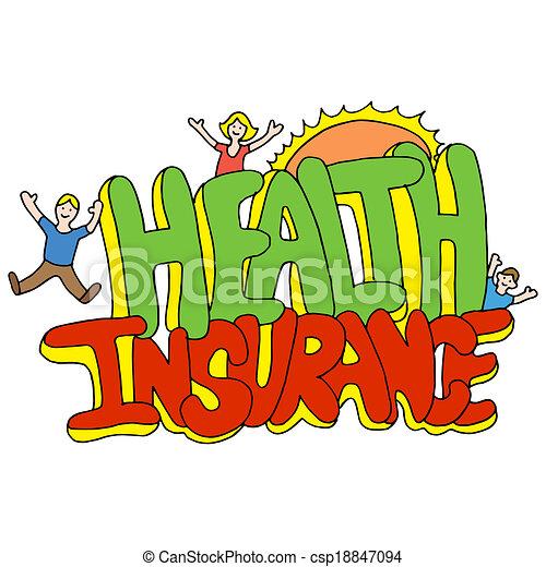 Mensaje del seguro de salud - csp18847094