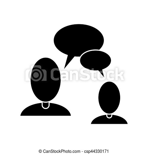 mensen, communicatie, pictogram, klesten, tekstballonetje - csp44330171