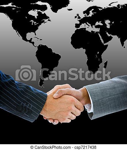 mensen, handen, zakelijk, rillend, close-up - csp7217438