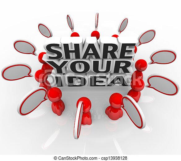 mensen, het bespreken, aandeel, idee, creatief, probleem, oplossing, jouw - csp13938128
