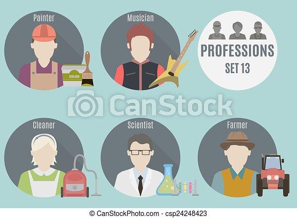 mensen., set, beroep, 13 - csp24248423