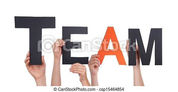 mensen, vasthouden, team - csp15464854