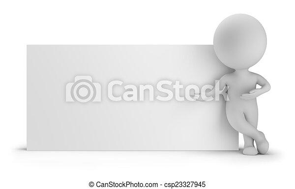 mensen, -, volgende, plank, kleine, lege, 3d - csp23327945