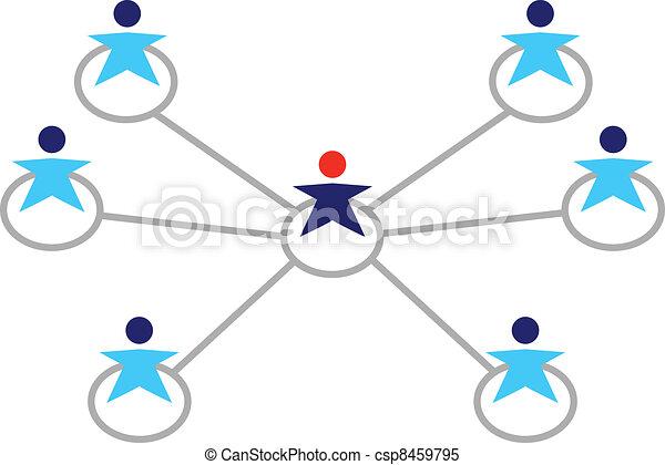 mensen zaak, netwerk, vrijstaand, globaal, witte  - csp8459795