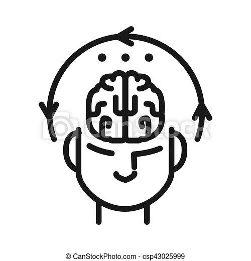 mental concentration illustration design - csp43025999